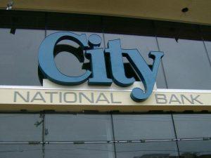City National Bank Sign