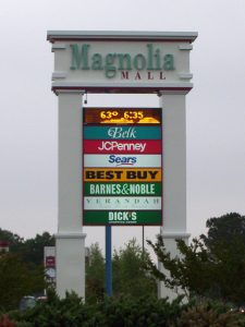 Magnolia Mall Pylon Sign