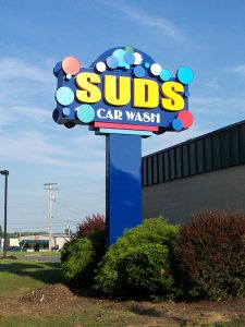 Suds Car Wash Sign